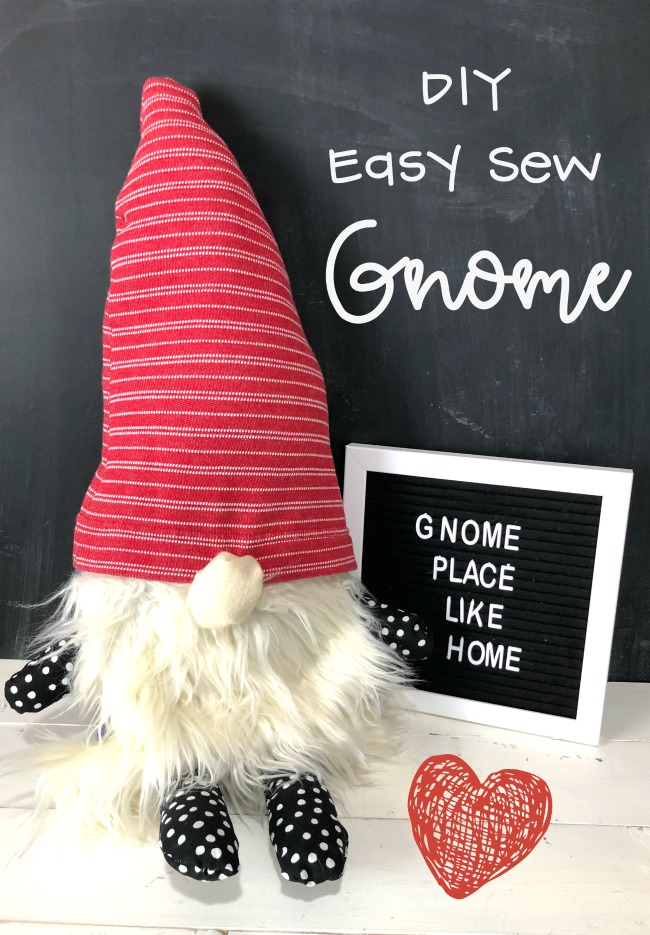 DIY Easy Sew Gnome