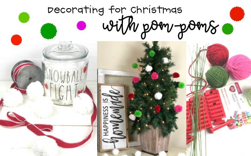 Pom-Pom Christmas Tree Picks