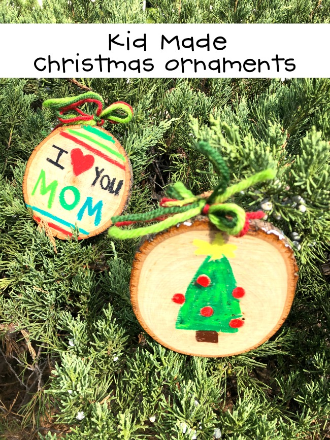 Kid Made Christmas Ornaments with Ooly Oil Pastels